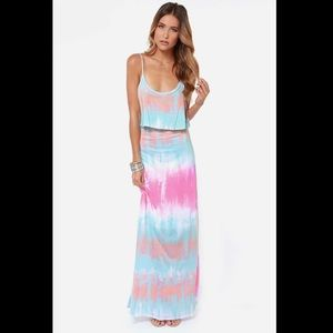 Lulu's Tie-Dye Maxi Dress